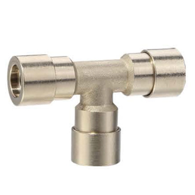 Anti-Spark Push in Fittings Flame Resistance Automotive Union Tee