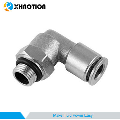 Metal Fitting Nickel-Plated Brass Male Elbow Fitting