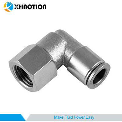 Xhnotion Female Elbow Brass Connector Quick Fitting Swivel
