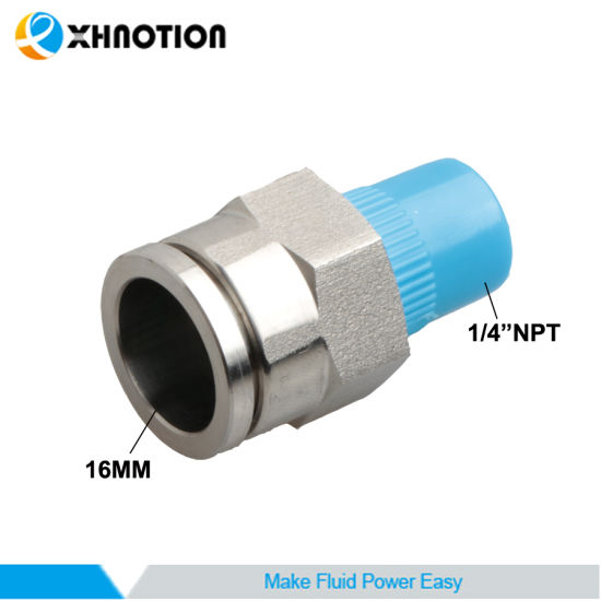 "Xhnotion Stainless Steel Fitting 16mm X 1/4""NPT Custom-Made Metal Male Straight Connector"