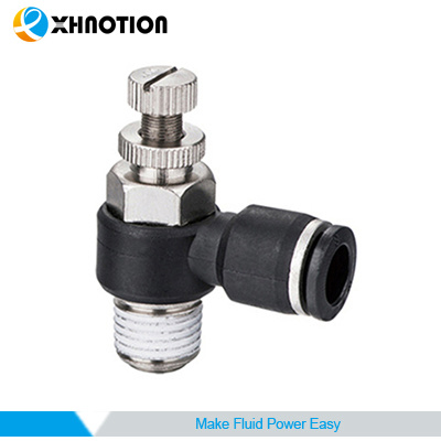Compact Flow Control Valve Pneumatic Fitting