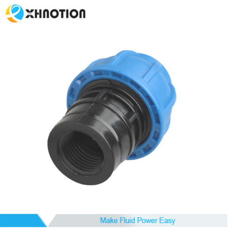 Xhnotion Ring Main Push in Fitting Female Straight Thread Fitting with Nylon Tubing