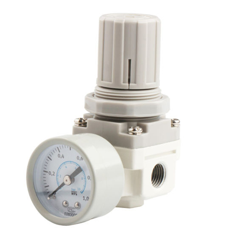 550 Flow Rate SMC-Equivalent Type White Air Regulator with Pressure Switch