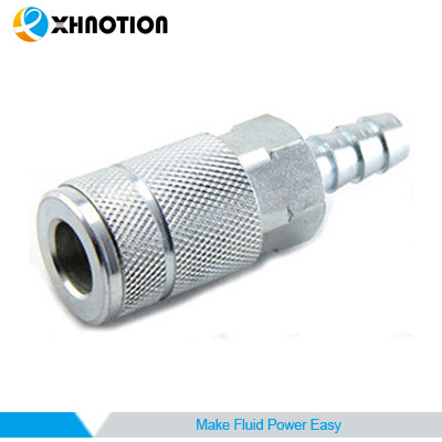 Automotive Barb Socket Quick Coupling Chrome-Plated Steel Coupler