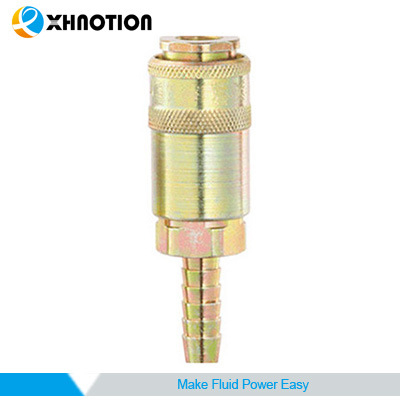 UK Series Barb Socket Color Zinc-Plated Brass Quick Coupler