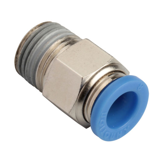 Xhnotion - 3/8 Tube X 1/4 BSPP Pneumatic Push in Male Straight Air Hose Fittings
